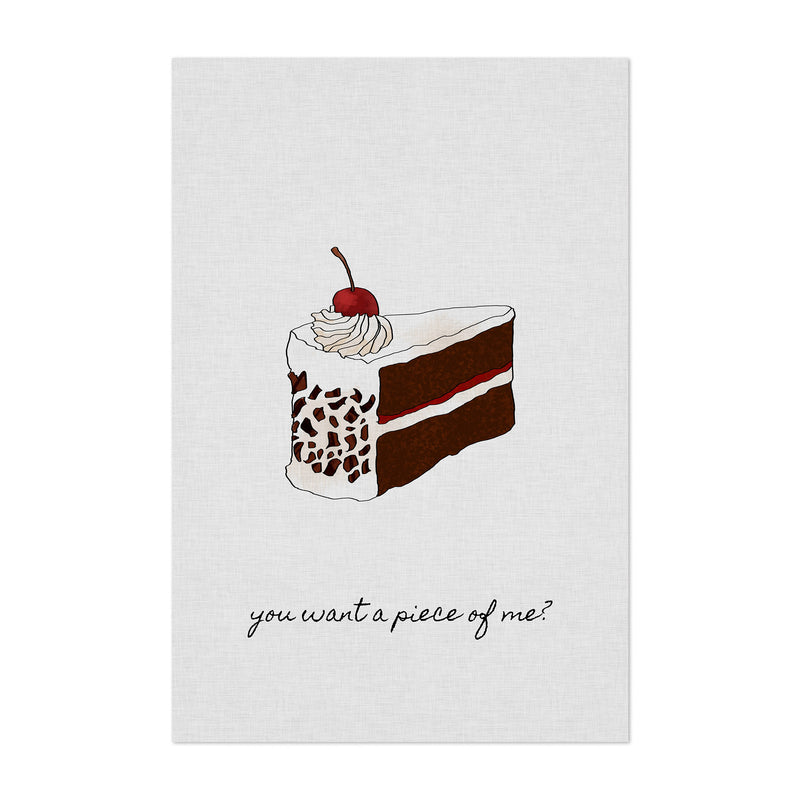 Kitchen Baking Cake Food Quote Art Print
