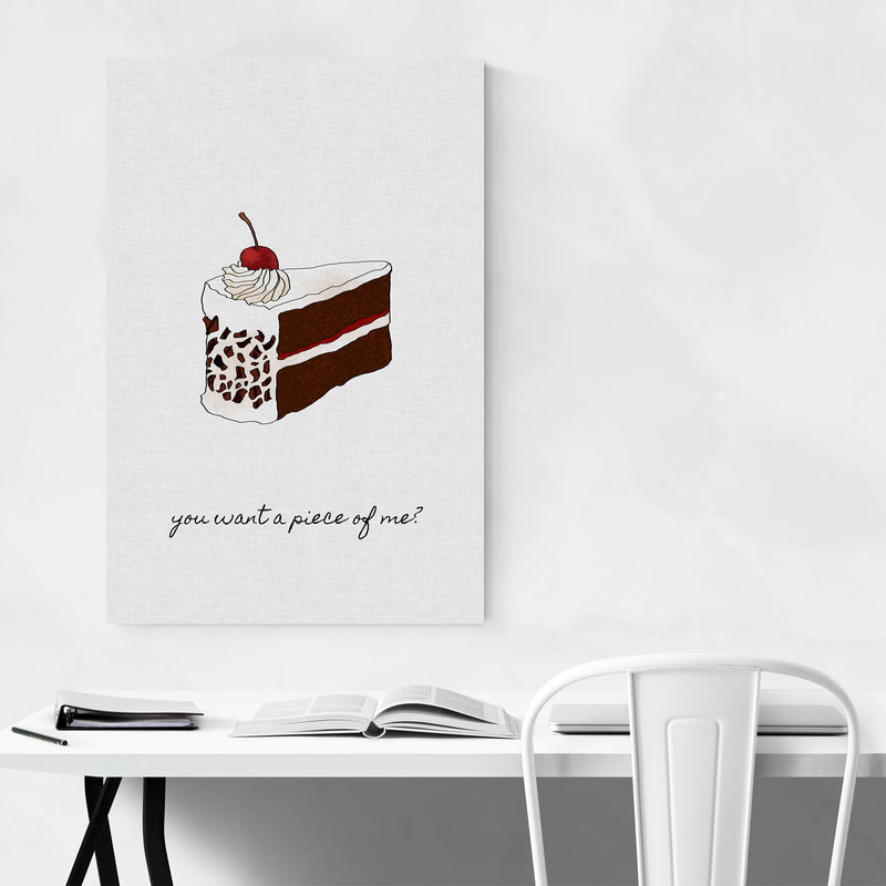 Kitchen Baking Cake Food Quote Metal Art Print