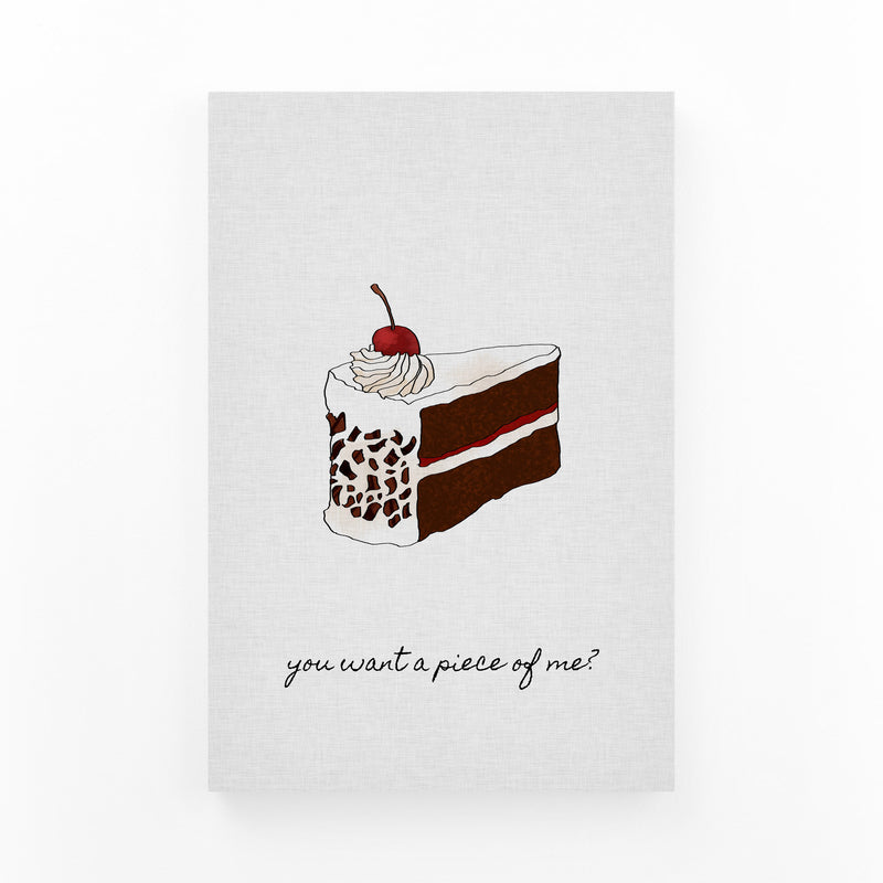 Kitchen Baking Cake Food Quote Canvas Art Print