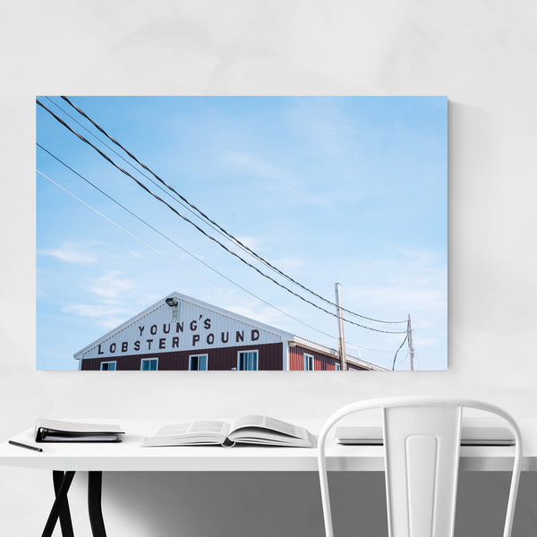 Lobster Pound Sign Maine Coastal Art Print