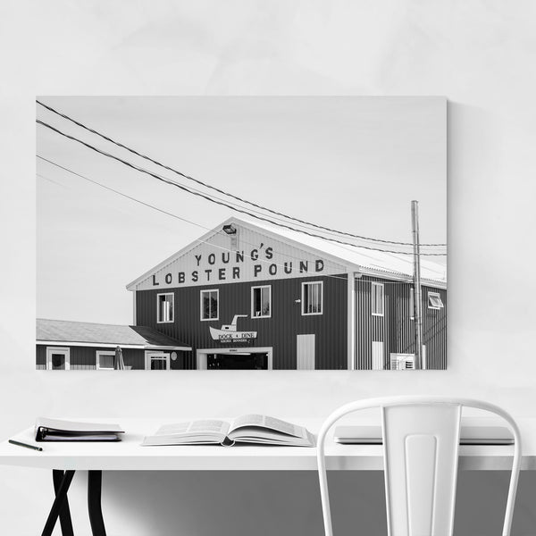 Black White Lobster Pound Maine Art Print