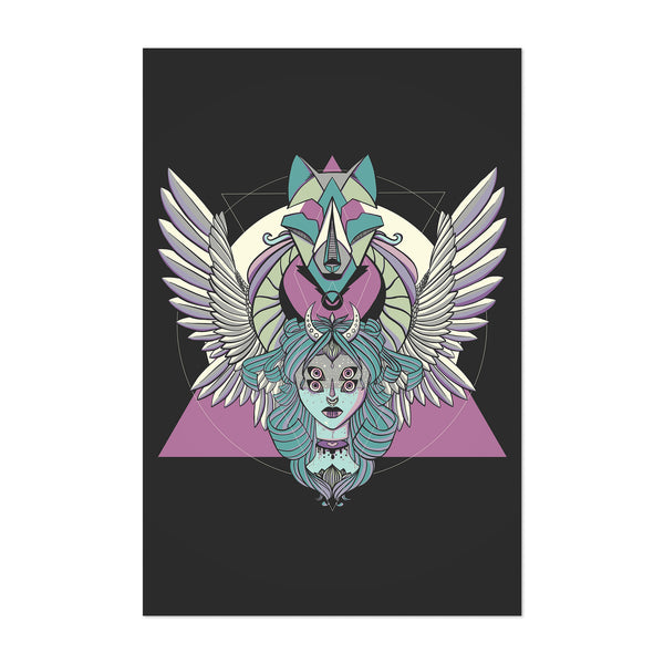 Valkyrie Norse Mythology Wolf Art Print