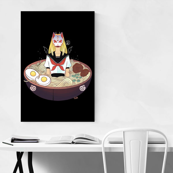 Japanese Anime Girl Ramen Art Print