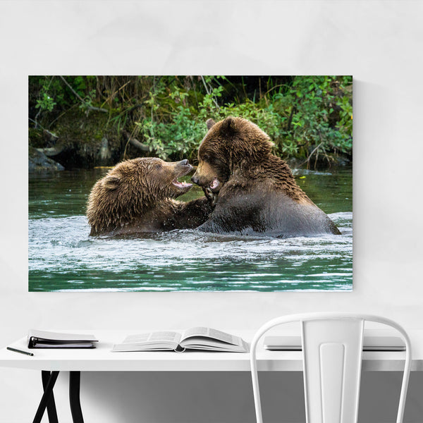 Grizzly Bear Wildlife Alaska Art Print