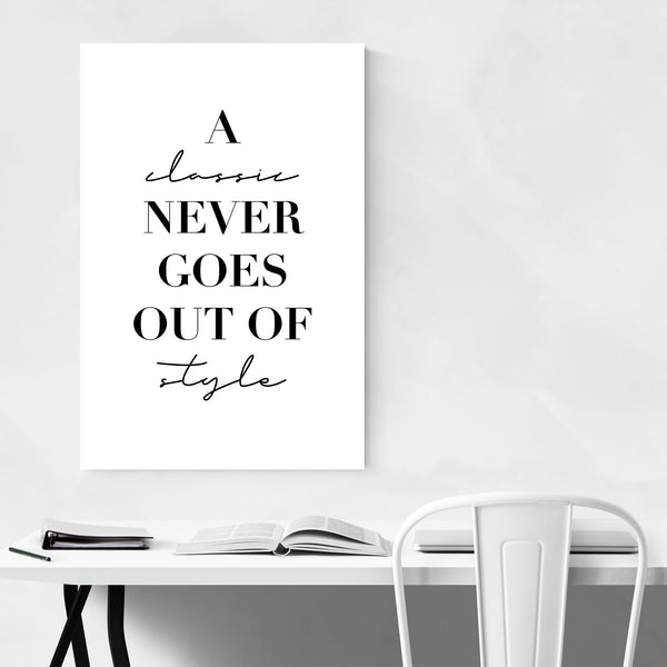 Minimal Quote Typography Art Print