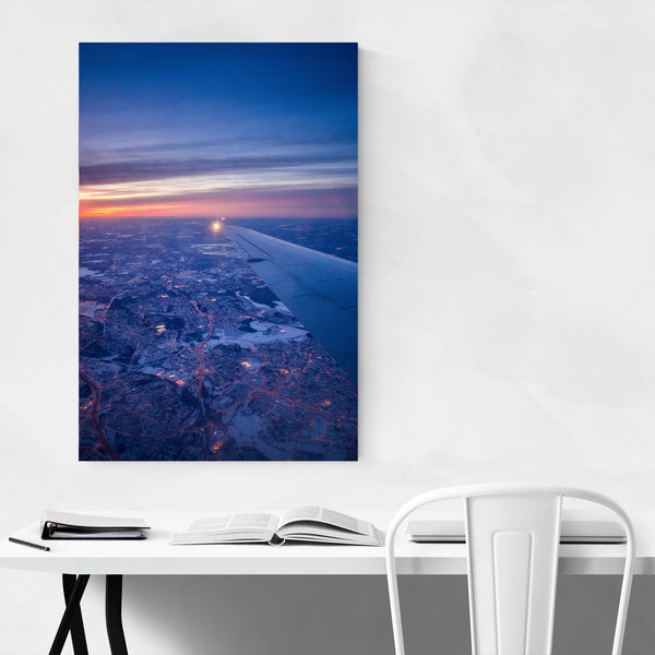 Helsinki Airport Winter Aerial Art Print