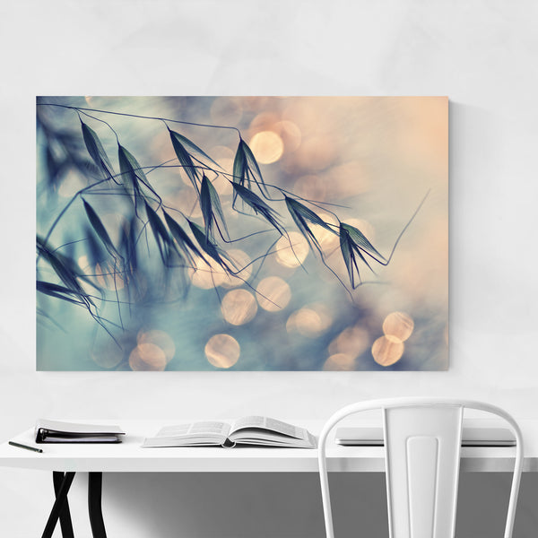 Grass Botanical Bokeh Photography Art Print