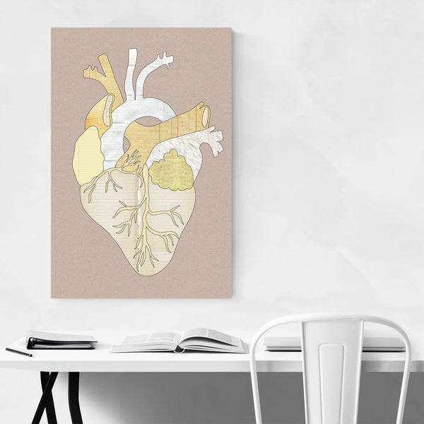 Heart Human Anatomy Collage Art Print