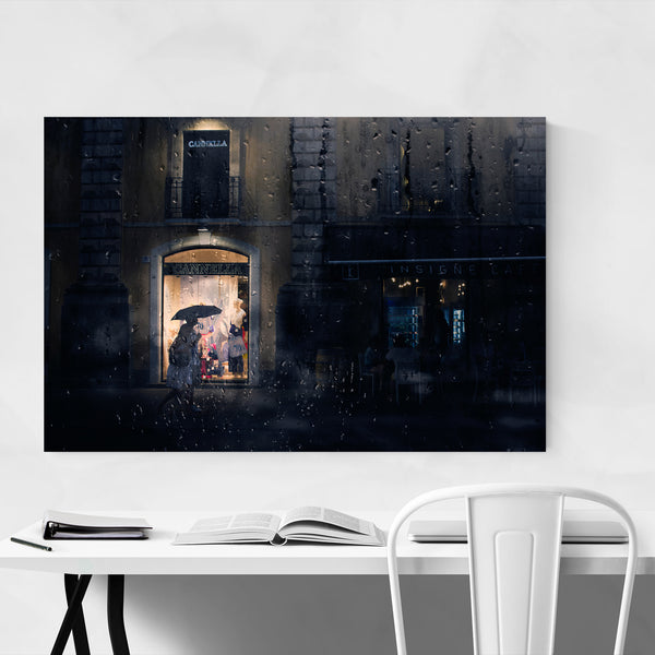 Rainy Catania Italy Photography Art Print
