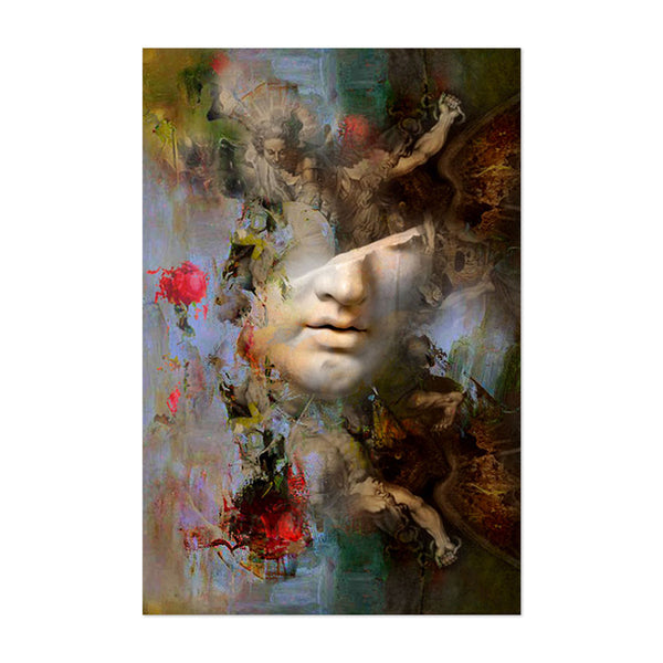 Abstract Collage Contemporary Art Print