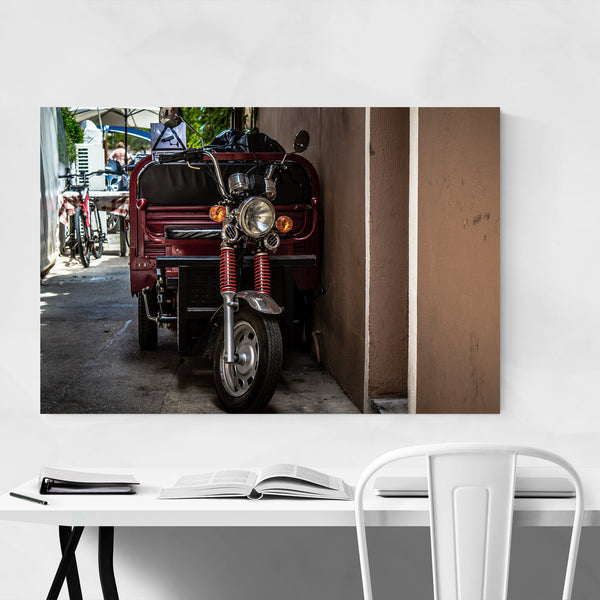 Paxos Greece Motorcycle Urban Photo Art Print