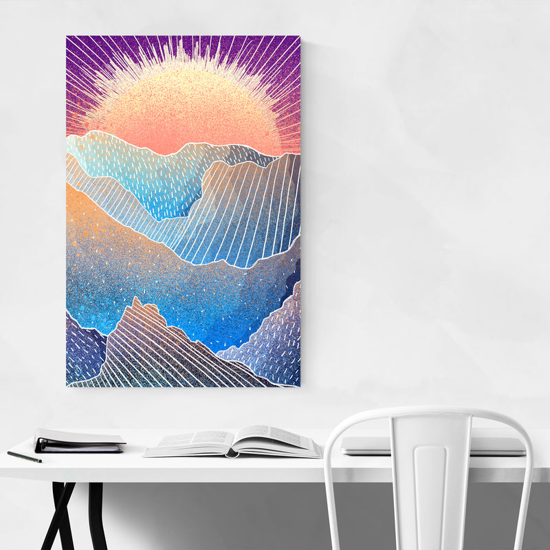 Abstract Sun Nature Landscape Art Print