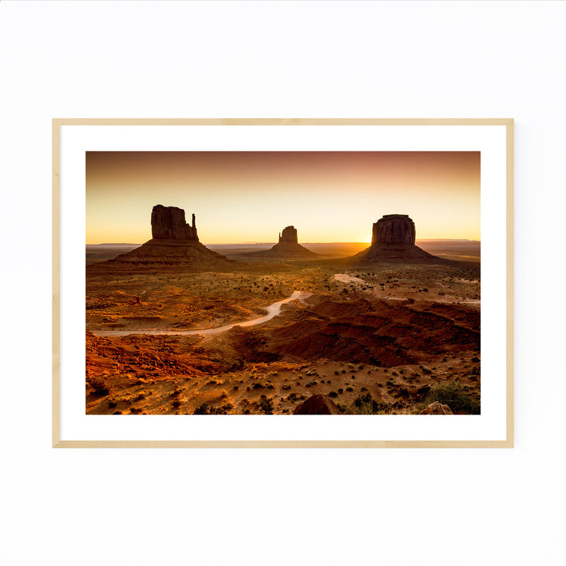 Monument Valley Arizona Desert Framed Art Print