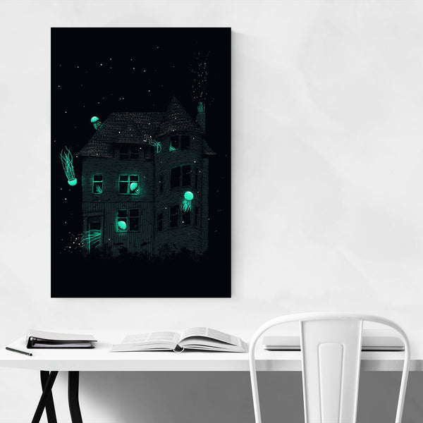Dark Spooky Haunted House Art Print
