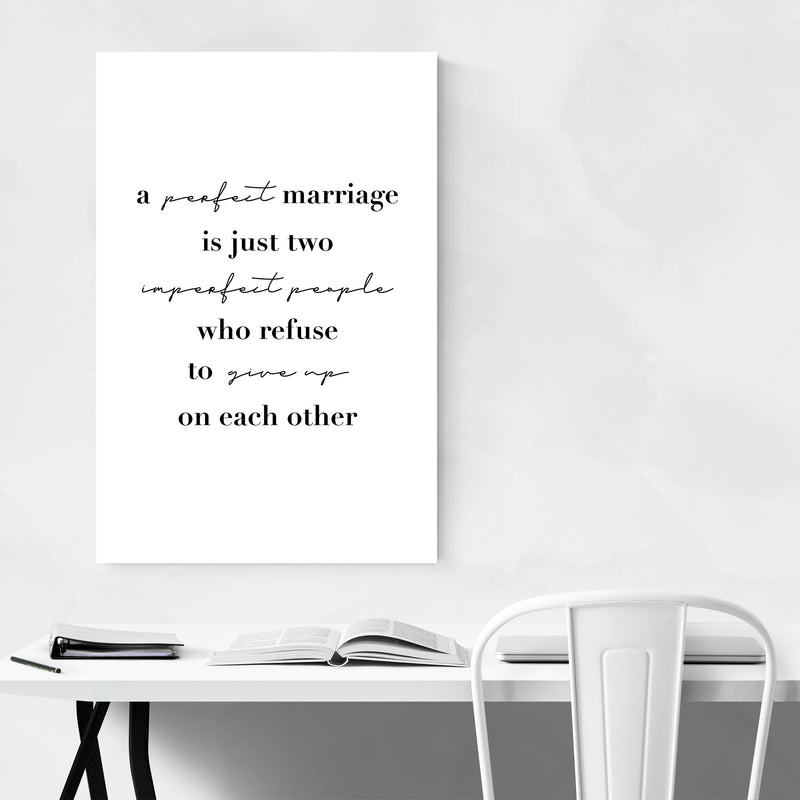 Marriage Motivational Typography Art Print