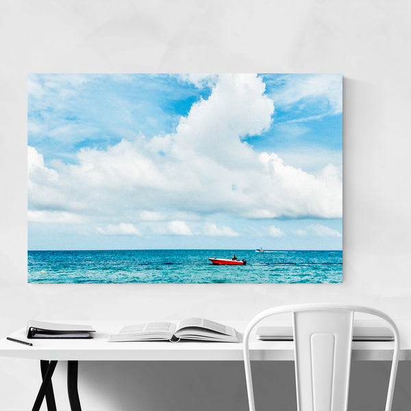 Playa Blanca Colombia Beach Boats Art Print
