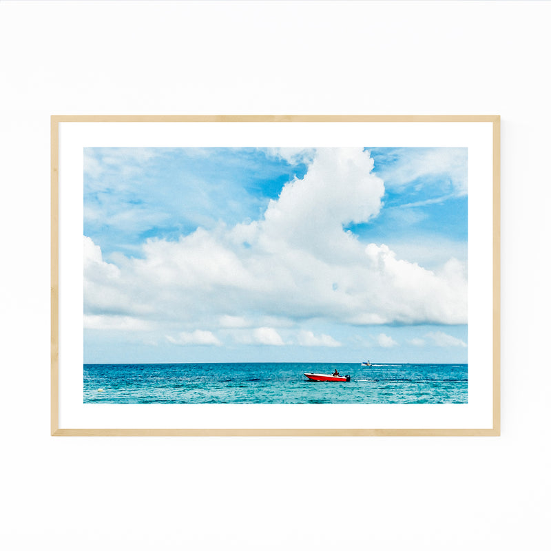 Playa Blanca Colombia Beach Boats Framed Art Print