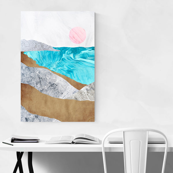 Beach Waves Nature Abstract Art Print