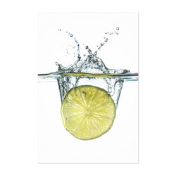 Abstract Lime Water Kitchen Art Print
