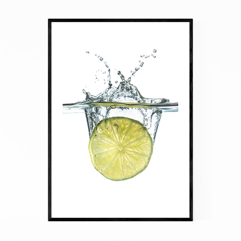 Abstract Lime Water Kitchen Framed Art Print