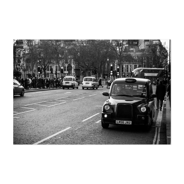 London UK Taxi Urban Photo Art Print