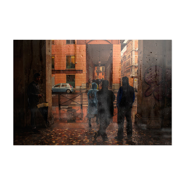 Rainy Rome Italy Photography Art Print