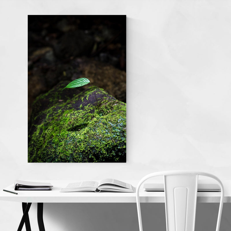 Tiny Tree Flower Forest Green Art Print