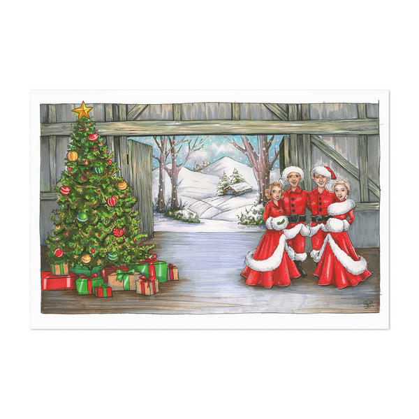 Christmas Snow Holiday Art Print