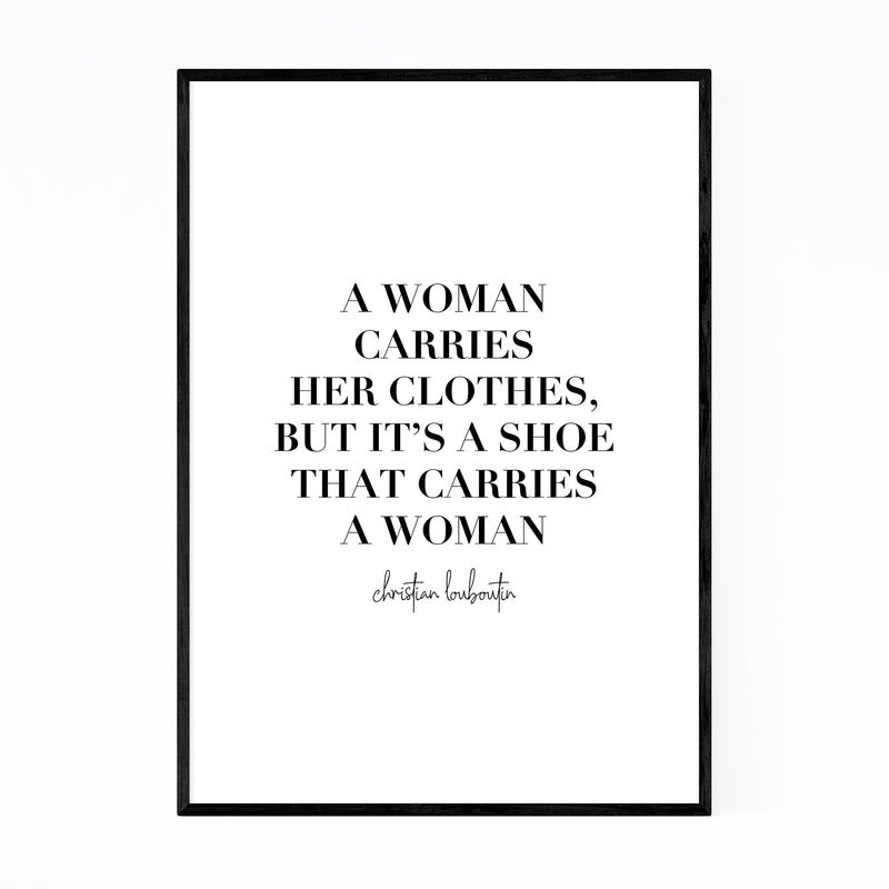 Louboutin Fashion Typography Framed Art Print