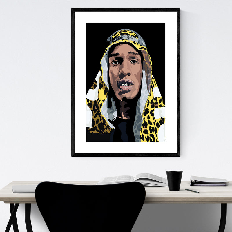 ASAP Rocky Portrait Music Hip Hop Framed Art Print