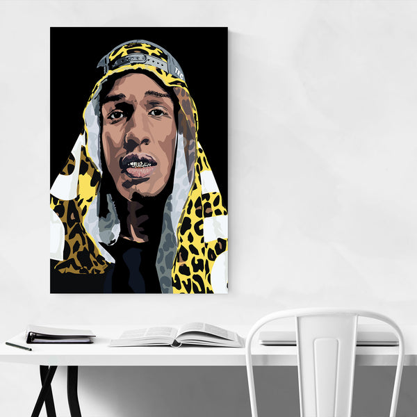 ASAP Rocky Portrait Music Hip Hop Art Print