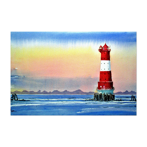 Lighthouse Landscape Painting Art Print