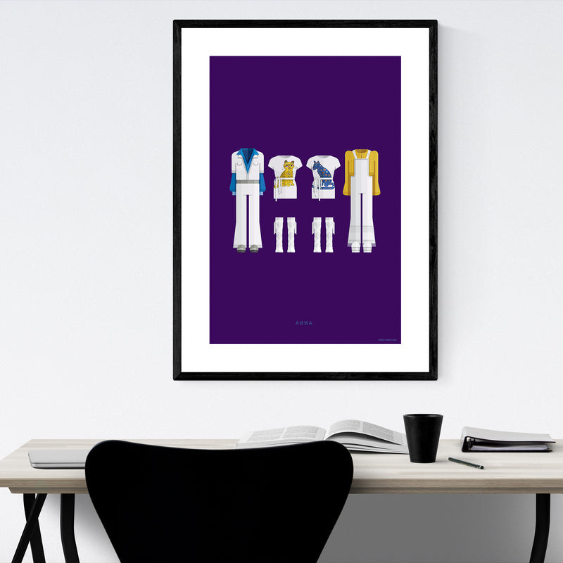 ABBA Music Illustration Framed Art Print