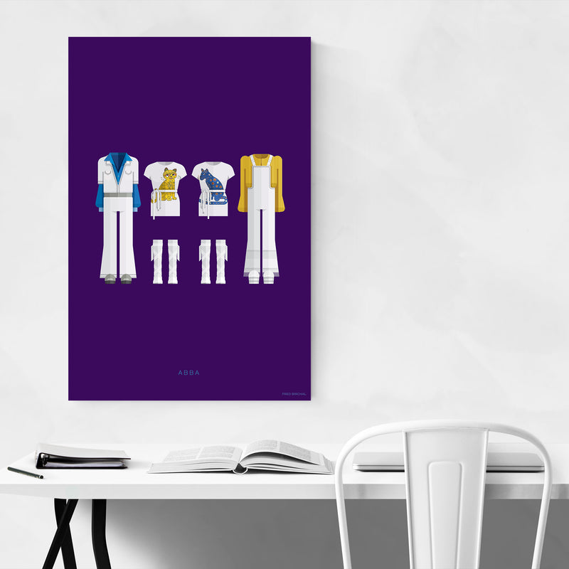 ABBA Music Illustration Art Print