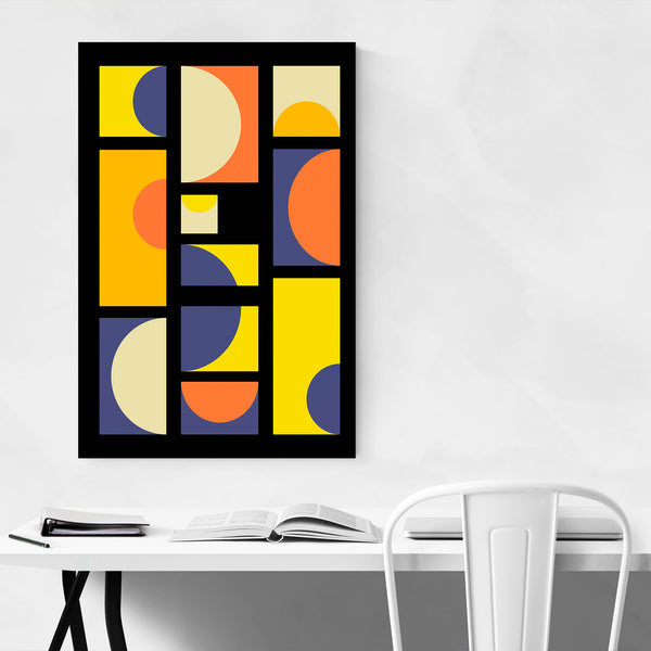 Abstract Colorful Geometric Art Print