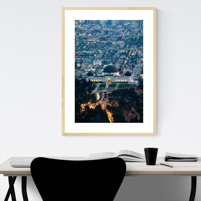 Griffith Observatory Los Angeles CA Framed Art Print