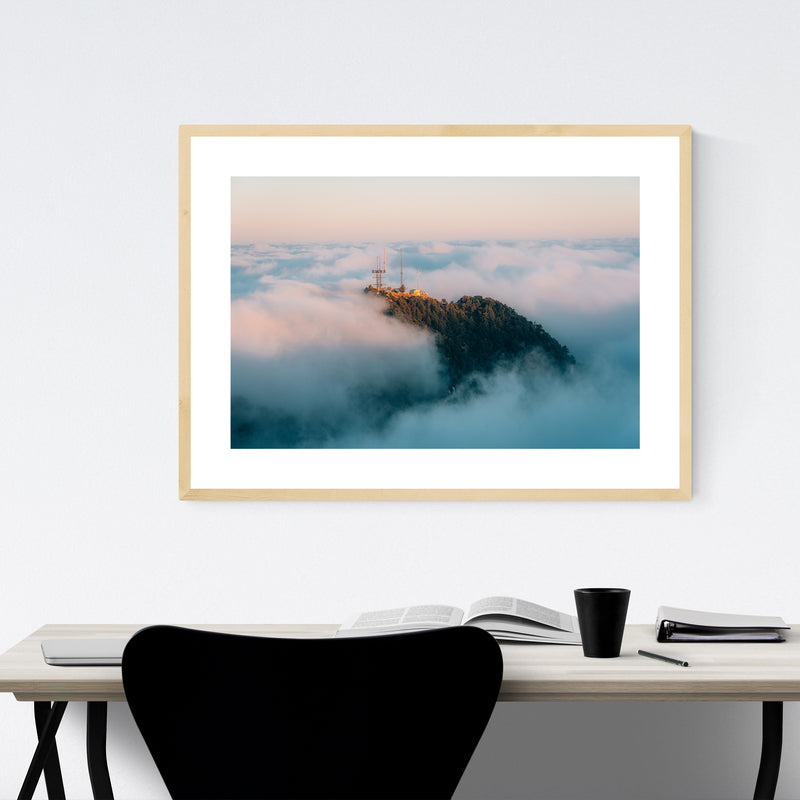 San Gabriel Mountains California Framed Art Print