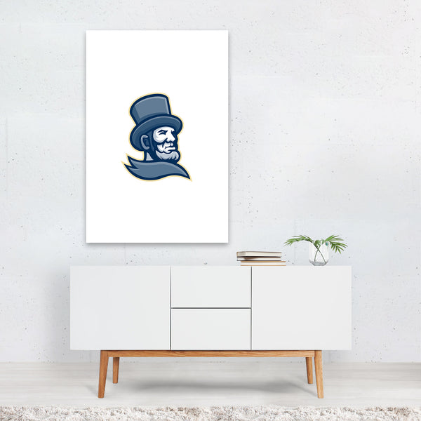 Abraham Lincoln Head Mascot Art Print