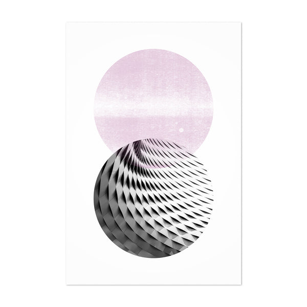 Abstract Circle Shapes Geometric Art Print