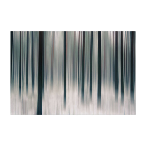 Sweden Abstract Forest Winter Photo Art Print
