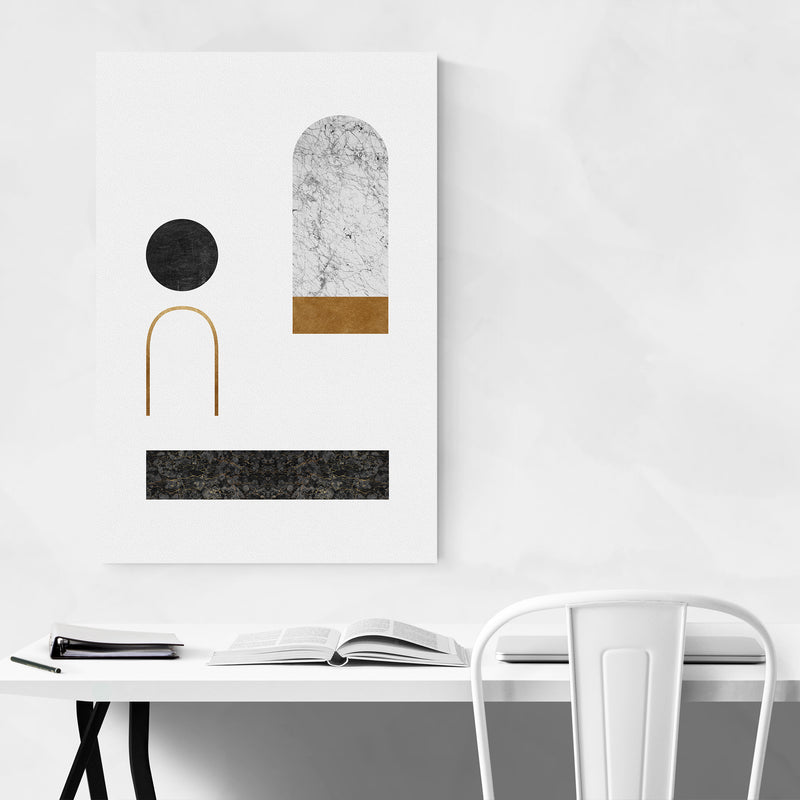 Abstract Geometric Collage Art Print