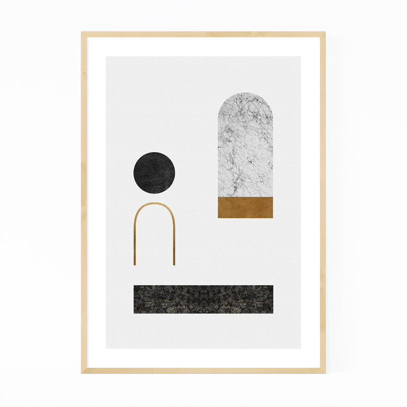 Abstract Geometric Collage Framed Art Print