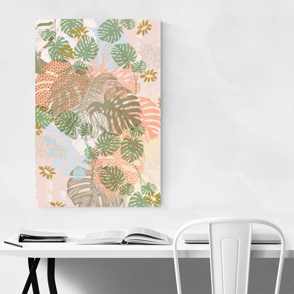Abstract Monstera Floral Botancial Art Print