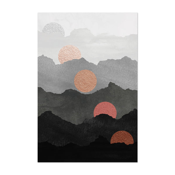 Abstract Nature Mountains Modern Art Print