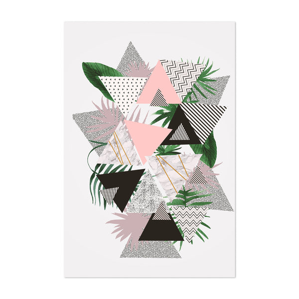 Abstract Geometric Botanical Art Print