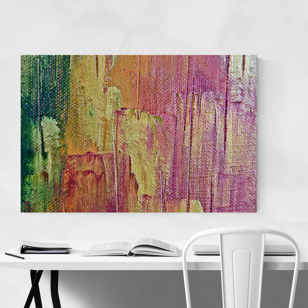 Abstract Palette Knife Painting Art Print