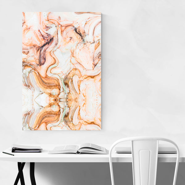Abstract Pink Watercolor Marble Art Print
