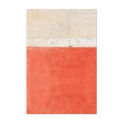 Red Wall Minimal Abstract Italy Art Print