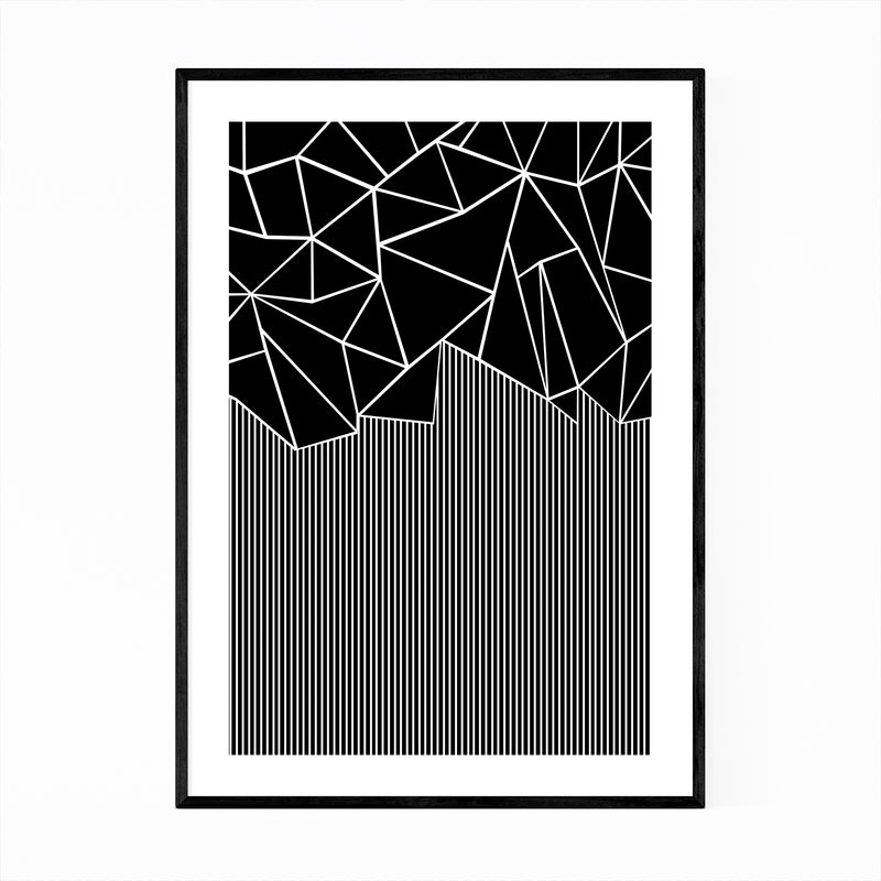 Abstract Geometric Pattern Lines Framed Art Print