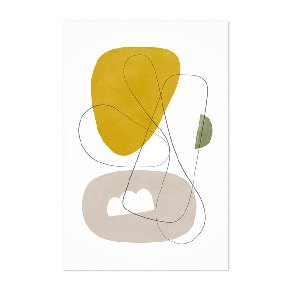 Pastel Abstract Minimal Shapes Art Print